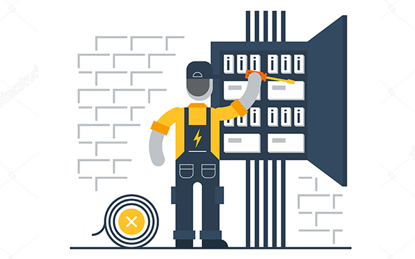 stock-vector-electrician-at-work-electric-services-electricity-and-internet-connection-vector-flat-351473636